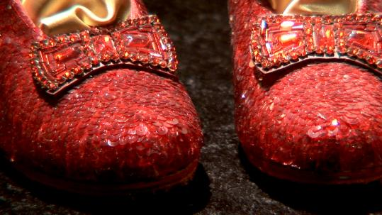 "The ruby slippers that Dorothy wore in ""The Wizard of Oz."""