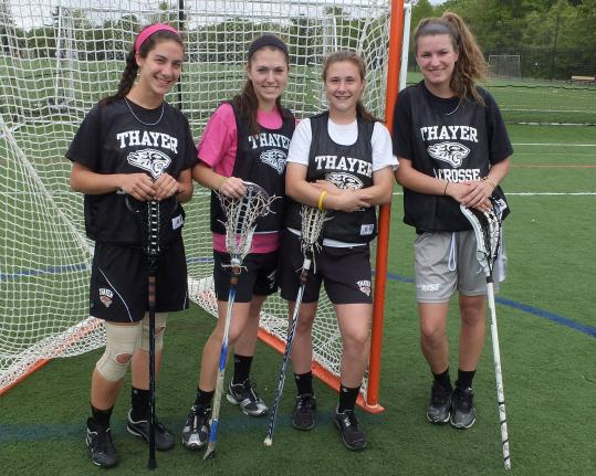 From left, Thayer Academy's Anna Kenyon, Allie Hooley, Melissa Piacentini, and Bryn Boucher.