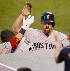 It's a happy homecoming for Kevin Youkilis, who homered in his return to the lineup after a stint on the disabled list.