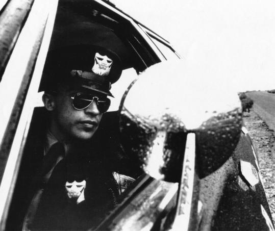 "Above: Roberto Sosa (above) in ""Highway Patrolman.'' Below: Emilio Estevez (left) and Sy Richardson in ""Repo Man.''"
