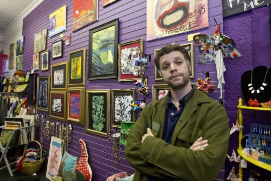 Tim Devin started the Somerville Stock Exchange to highlight local charitable work, such as the Creative Union Gallery.