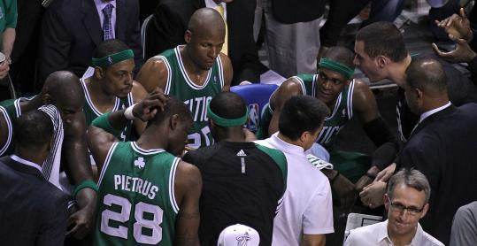 There were long faces on the Celtics bench during a late timeout in Game 7; will those same faces be around in 2012-13?