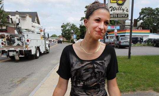 Betsy Hathaway, 16, said Middleborough police bothered teens before a rule let them issue tickets for profanity use.