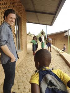 Design MASS Executive Director Michael Murphy (top, and above left) with fellow Branden Collins (left), and Rwanda Programs Director Sierra Bainbridge in Rwanda in January 2011.