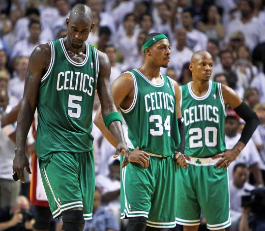 If Danny Ainge has his way, Kevin Garnett, Paul Pierce, and Ray Allen will team up again.
