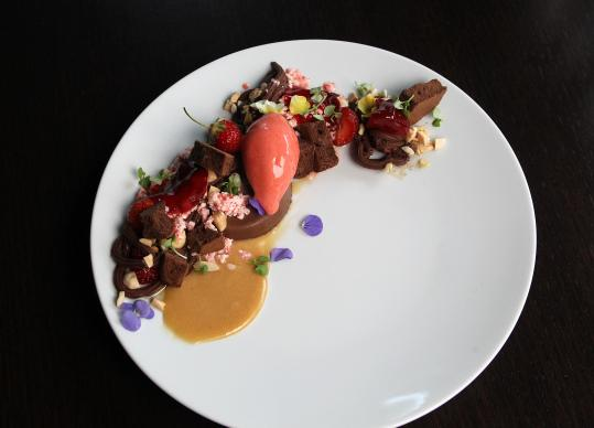 'Variations on Chocolate and Strawberry' by Deuxave PastrySous Chef Giselle Miller.