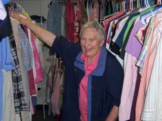 Shirley Poore of Quincy has been volunteering at Interfaith Social Services's thrift shop for more than 20 years.