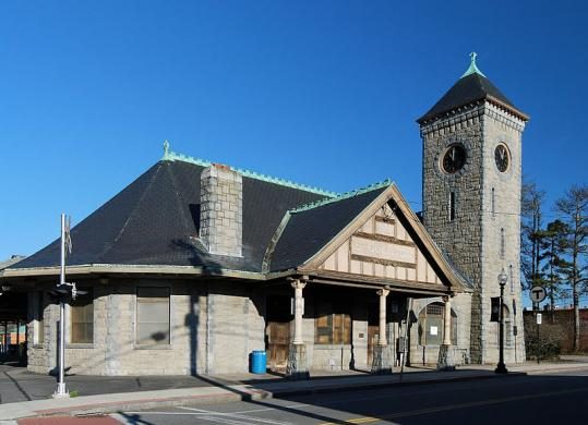 The railroad station in downtown Stoughton is 130 years old.