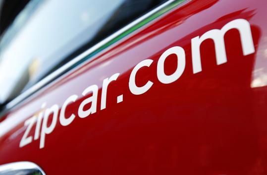 The Zipcar short-term rental company provides automobile