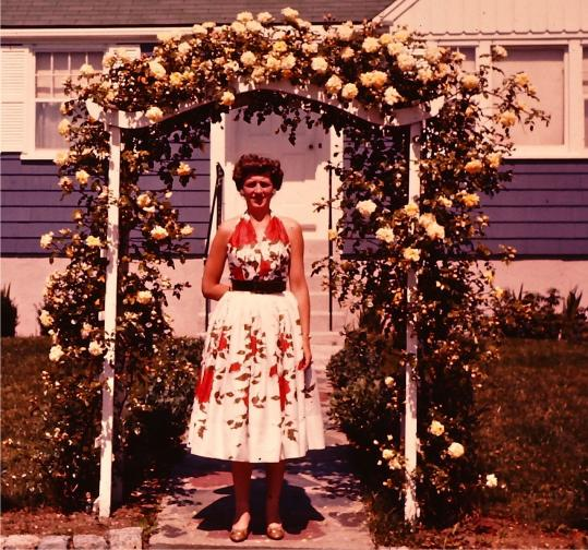 Beverly beckham a dress as a time machine the boston globe for Frugal fannies wedding dresses