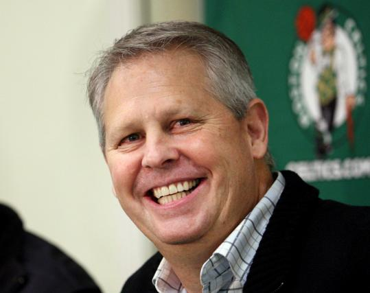 Danny Ainge said the Celtics tried to get Ray Allen back; he went to Miami.