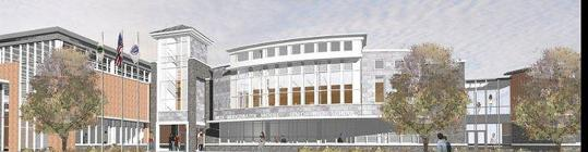 An architect's rendering of the proposed West Bridgewater Middle-Senior High School. An architect's rendering of the proposed West Bridgewater Middle-Senior High School. If the plan goes forward, construction could begin in 2013.