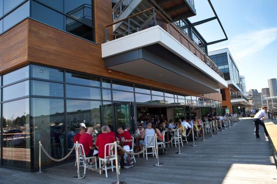 Liberty Wharf's restaurants have been drawing crowds since the harborside complex opened in South Boston in spring 2011.