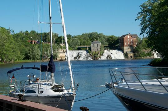 In Vergennes, moorings on Otter Creek, near where Thomas Macdonough built a fleet for a War of 1812 battle.