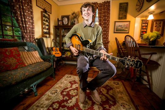Jesse Combs, 20, has drawn younger crowds to jazz jams at Framingham's Amazing Things Arts Center.