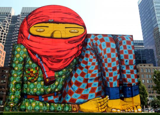 Strolling through the ruins of street art with os gemeos for Boston wall mural