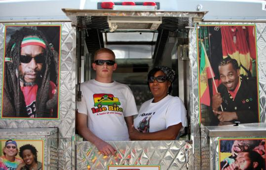 Melody Cunningham and her partner Peter Simon operate Irie Bites, a Jamaican food truck in Vineyard Haven.