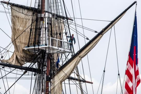 The USS Constitution sailed Sunday, marking the 200th anniversary of the battle earning it the nickname Old Ironsides.