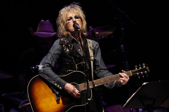 Lucinda Williams and John Prine teamed for an evening of modern classic songs at the Bank of America Pavilion.
