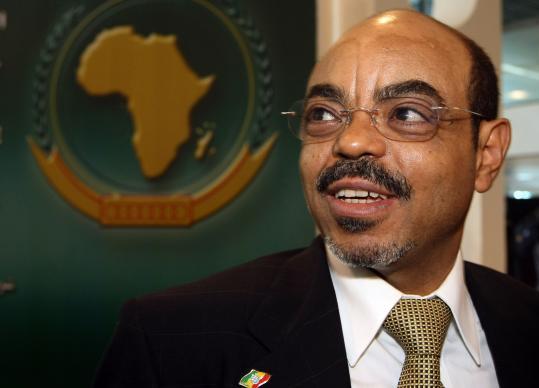 Meles Zenawi in 2008.