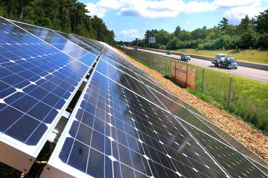 The new solar installation in Carver began providing power for the town's water treatment plant  last month.