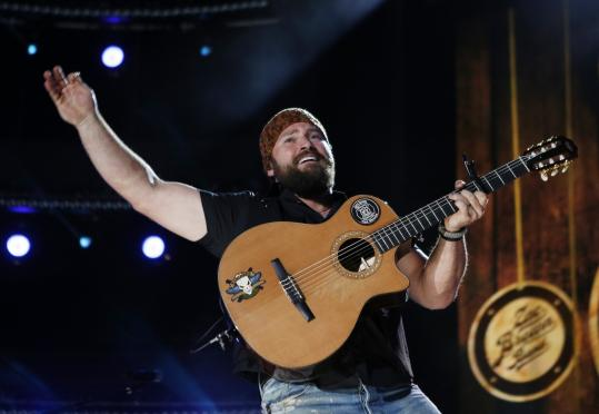 Zac Brown (pictured here in Nashville last June) and his band charmed the Comcast