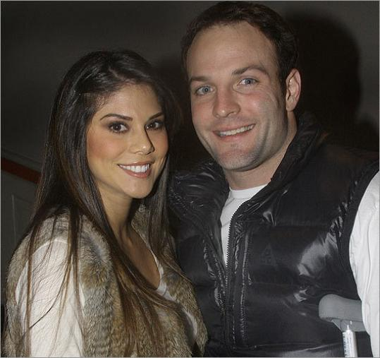 Wes Welker and Anna Burns at Radius last night.