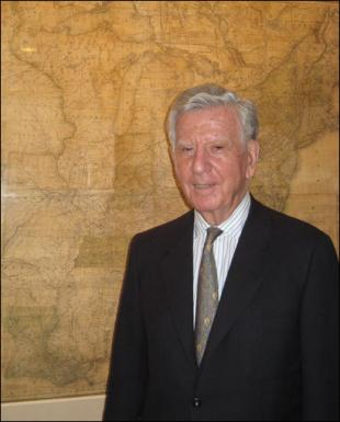 Retired Boston developer and map aficionado Norman B. Leventhal