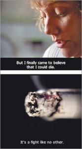 The Department of Public Health's tobacco-control efforts included an aggressive anti-smoking television ad campaign.