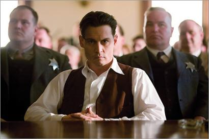 Johnny Depp displays plenty of screen magnetism as legendary bank robber John Dillinger in Micheal Mann's 'Public Enemies.'