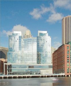 The upscale Residences at the InterContinental are located on floors 14 to 21 of the stunning, all-glass InterContinental Boston Hotel.