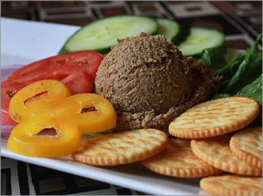 Chopped liver appetizer at Rubin's Kosher Restaurant Delicatessen