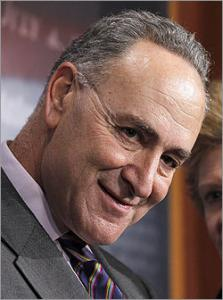 Senator Charles Schumer, D-NY, is seeking to make it illegal for anyone to distribute or record the revealing images produced by full-body scanners at airports.