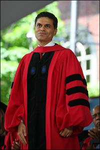 Fareed Zakaria at the Harvard University commencement.