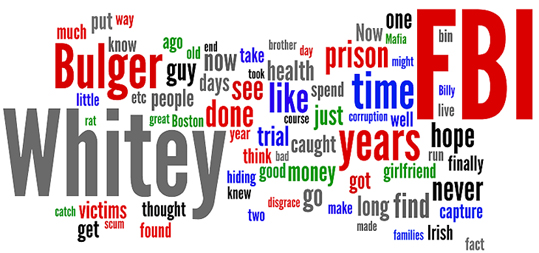 Wordle: Reaction to Whitey Bulger's arrest
