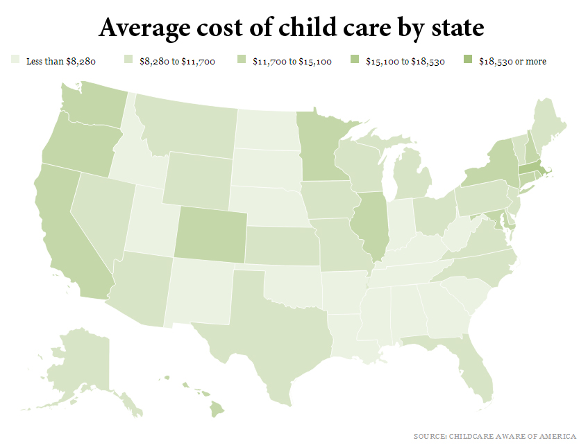 what is the average cost of preschool average nursery cost thenurseries 397