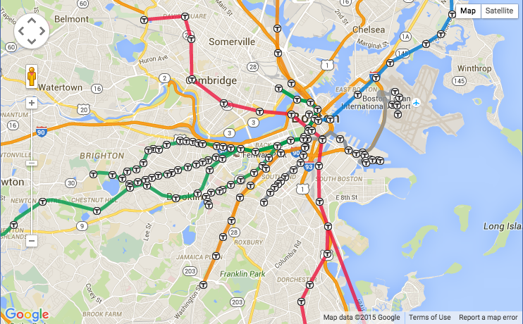 Boston Subway Map With Streets
