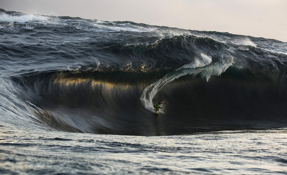 Kerby Brown rides a huge wave in an undisclosed location southwest of Western Australia July 6, 2008, in this picture released November 7, 2008 by the Oakley-Surfing Life Big Wave Awards in Sydney. Picture taken July 6. (REUTERS/Andrew Buckley). #