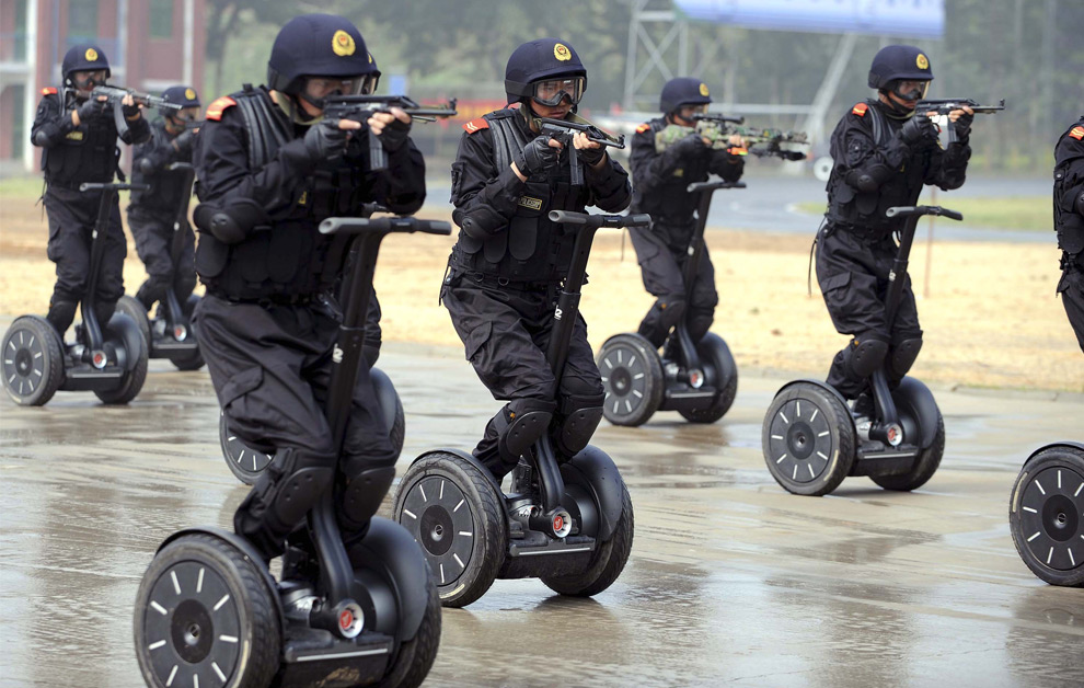 Chinese Special Forces On Segways