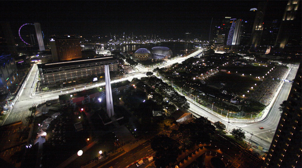 Image result for Images of Singapore F1 track