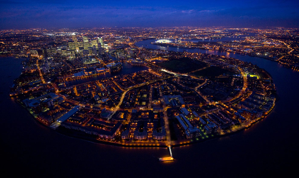 More of London from above, at night
