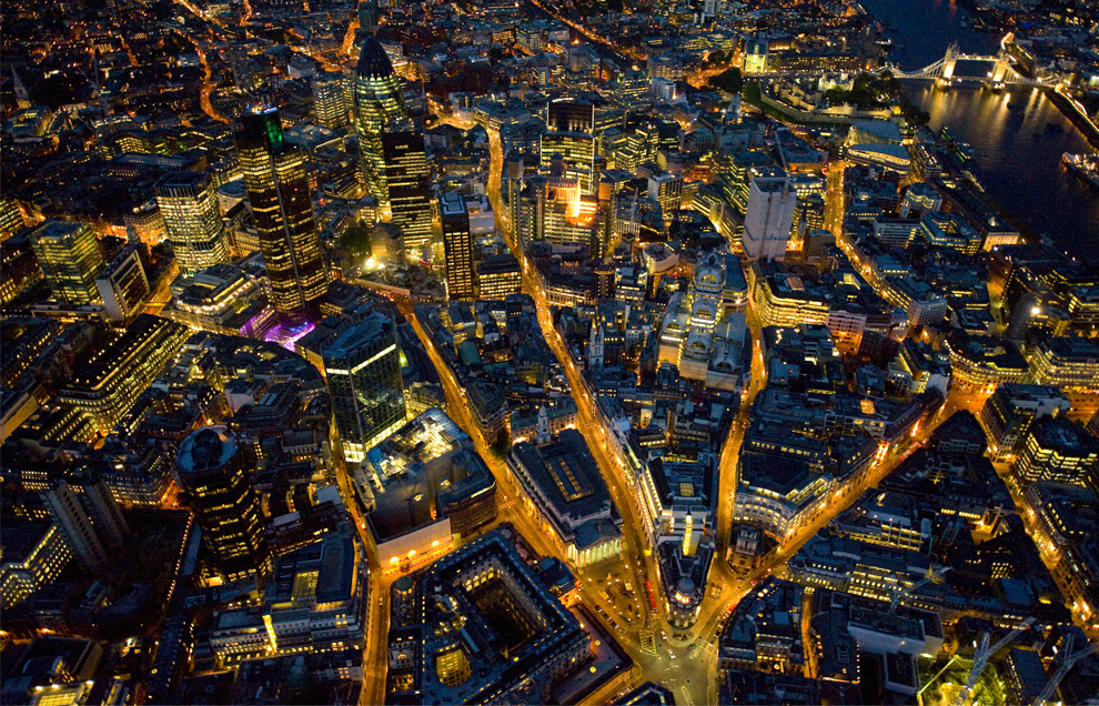 London from above, at night - The Big Picture - Boston.