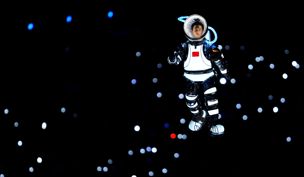 oly3 - Chinese in Space Suit at Olympics 2008 Opening - Photos Unlimited