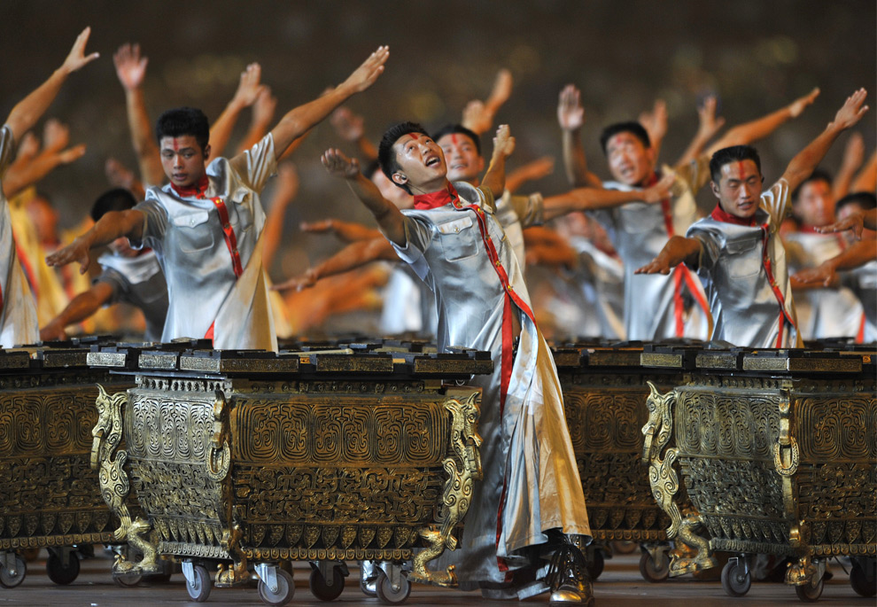 oly6 - Percussionists Performing at the Beijing Olympic Games Opening Ceremony - Photos Unlimited