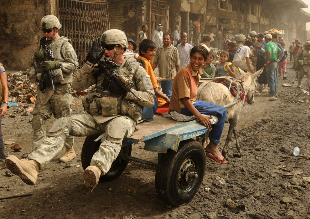 La vida cotidiana en la ciudad de Sadr, Irak