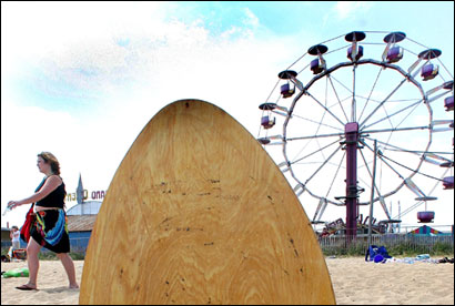 Old Orchard Beach Boasts A Seaside Amut Park Featuring Roller Coaster Ferris Wheel