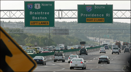 Storm grate crashes through windshield on Route 128 - Boston com