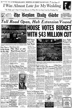 Boston Globe historic front pages - Boston com