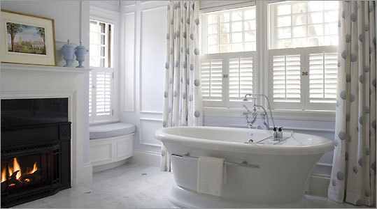 A Master Bathroom Carved Out Of Historic Cambridge Home Is Filled With Up To Date Amenities