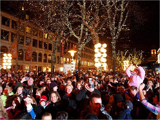 Faneuil Hall Tree-lighting Ceremony